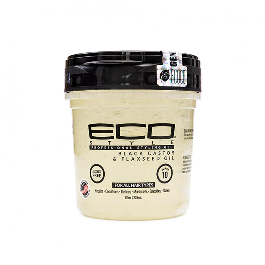Eco Styler - Hajzselé fekete ricinus olajjal és lenmagokkal 236 ml