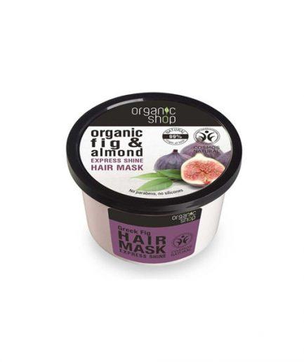 Organic Shop – Hajmaszk csillogásra, fügével és mandulával 250 ml