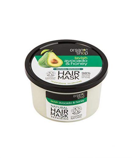 Organic Shop – Lavish regeneráló hajmaszk mézzel és avokádóval 250 ml