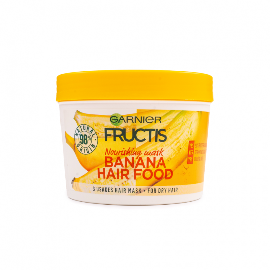 Garnier – Fructis Banana Hair Food 3 in 1 tápláló maszk 390 ml