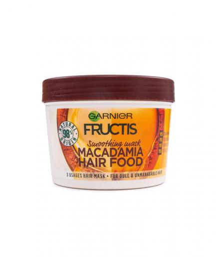 Garnier – Fructis Macadamia Hair Food 3 in 1 Maszk rakoncátlan hajra 390 ml