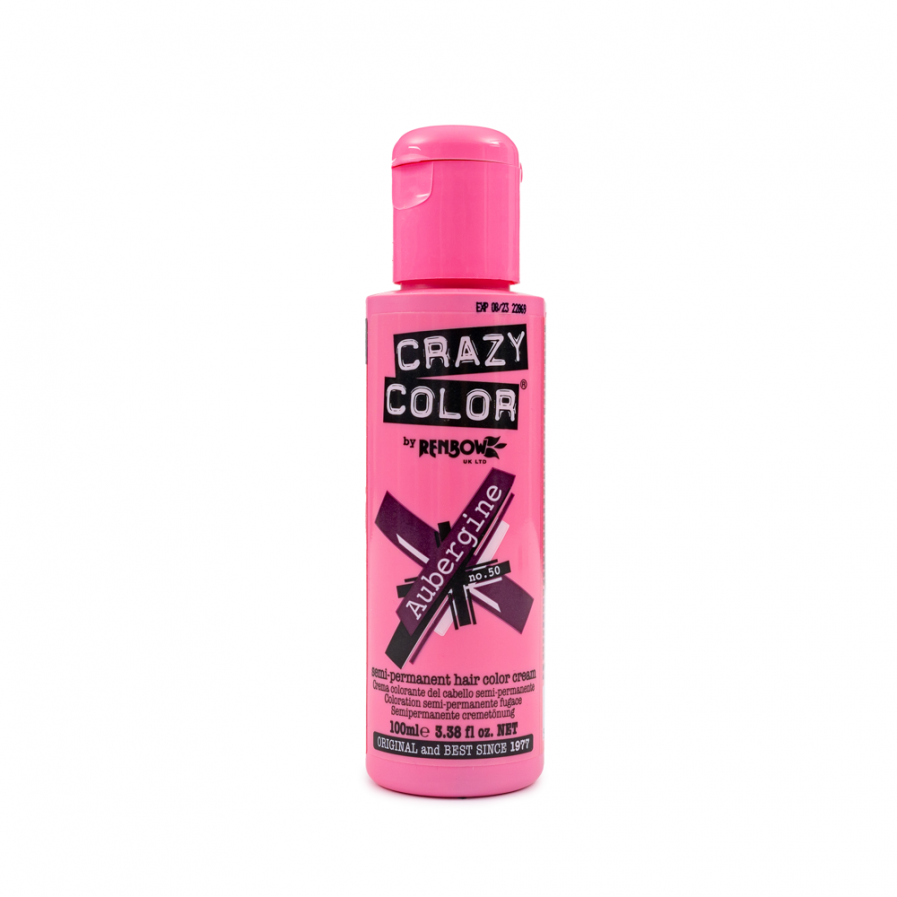 Crazy Color - Aubergine szemi-permanens hajfesték 100 ml