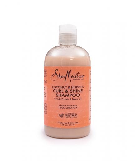 Shea Moisture – Sampon kókusz és hibiszkusz kivonattal 384 ml