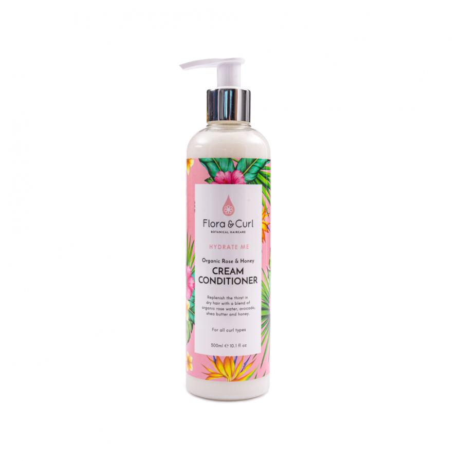 Flora & Curl – Krémes hajbalzsam mézzel és rózsával 300 ml
