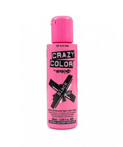 Crazy Color - Black szemi-permanens hajfesték 100 ml