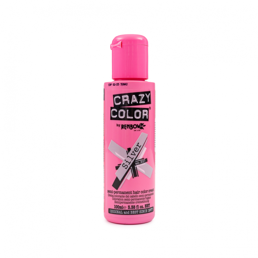 Crazy Color - Silver szemi-permanens hajfesték 100 ml