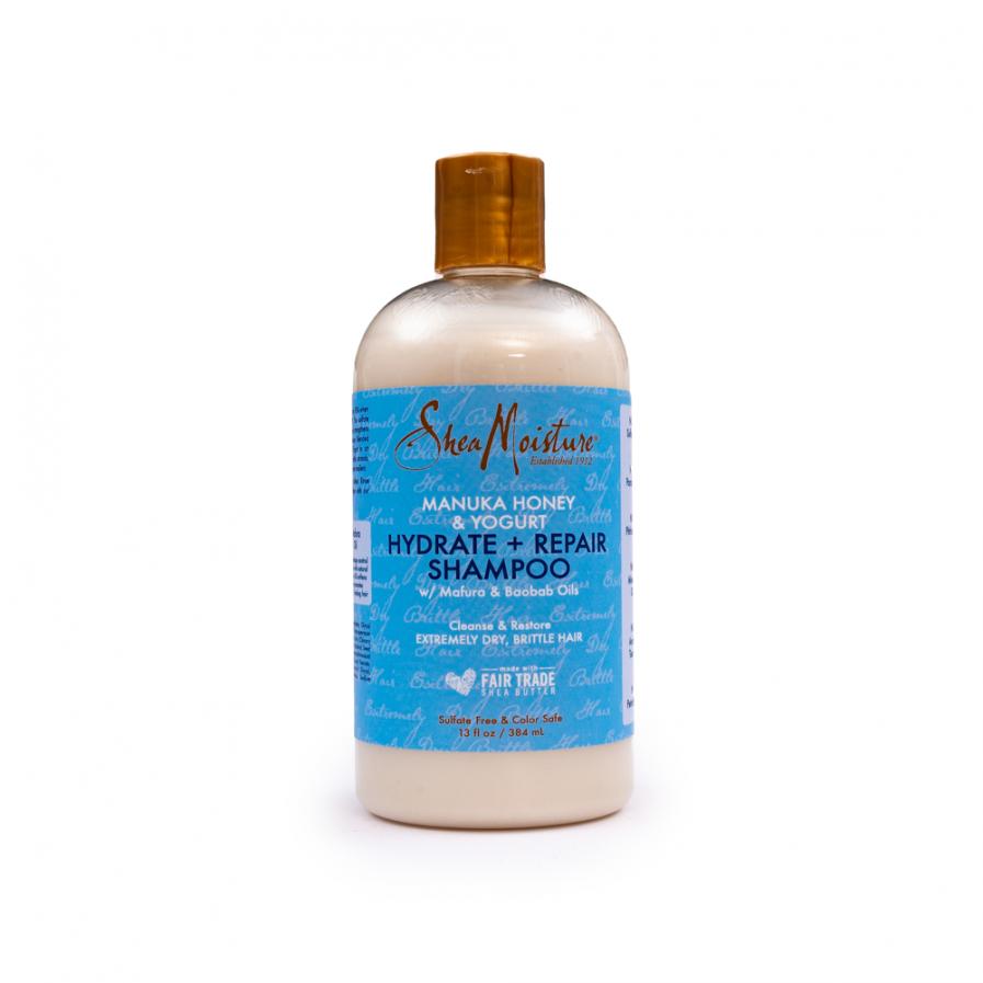 Shea Moisture – Hidratáló és javító sampon Manuka-mézzel és joghurttal 384 ml