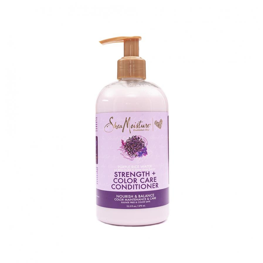 Shea Moisture – Purple Rice Water Erősítő hajszínvédő balzsam 399 ml
