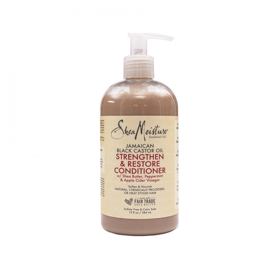 Shea Moisture – Erősítő és restukturáló balzsam Jamaica-i ricinus olajjal 384 ml
