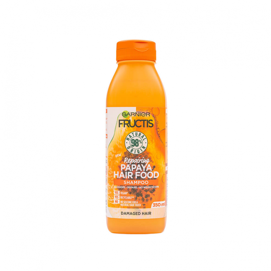 Garnier - Fructis Papaya Hair Food javító sampon 350 ml