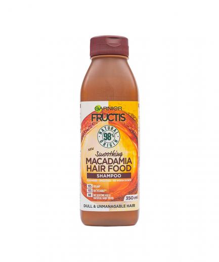 Garnier - Fructis Hair Food Macadamia simító sampon nehezen kezelhető hajra 350 ml