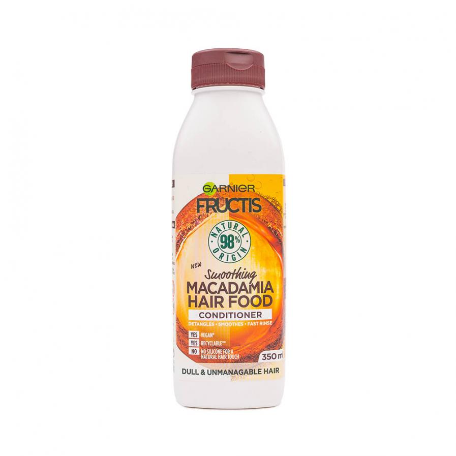 Garnier - Fructis Macadamia Hair Food simító balzsam nehezen kezelhető hajra 350 ml