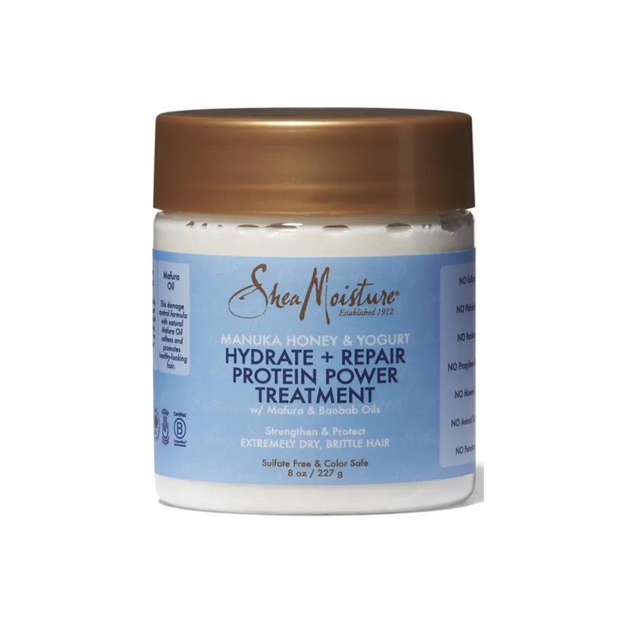 Shea Moisture - Manuka Honey and Yogurt Hydrate & Repair Protein-Strong Treatment kezelő hajpakolás 227 ml