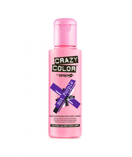 Crazy Color - Hot Purple szemi-permanens hajfesték 100 ml