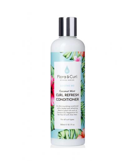 Flora & Curl – Coconut Mint revitalizáló balzsam 300 mlTudtad, hogy a száraz fejbőr a nagyon száraz haj egyik oka? Fedezd fel a Flora&Curl revitalizáló balzsamot, melynek összetétele csak természetes anyagokból áll. A jojóba olaj nyugtatja a fejbőrt , a kókusz- és szőlőmagolaj hidratálják és táplálják tincseid, az Aloe Vera, menta, eukaliptusz és cédrus nyugtatja az esetleg megjelenő irritációkat és hidratálja a fejbőrt ezáltal könnyítve ennek kezelhetőségét. Összetételében ugyanakkor rátalálhatunk az APISCALP™- növényi alapú aktív összetevőre. Ennek fő szerepe a faggyútermelés szabályozása, mely magával hozza az egészséges és korpamentes fejbőrt. Nem tartalmaz: mesterséges színezékeket és parfümöt, szilikont, szulfátokat, parabéneket és ásványi olajokat. Állatkísérletmentes termék. Vegán termék. HASZNÁLAT Miután megmostad a hajad, szorítsd ki belőle a vizet. Vidd fel a balzsamot, több figyelmet szánva a hajvégekre. Takard le hajad egy zuhanysapkával, hagyd 10-15 percig hatni, majd nagyon alaposan öblítsd le. Stilizáld majd szokás szerint.