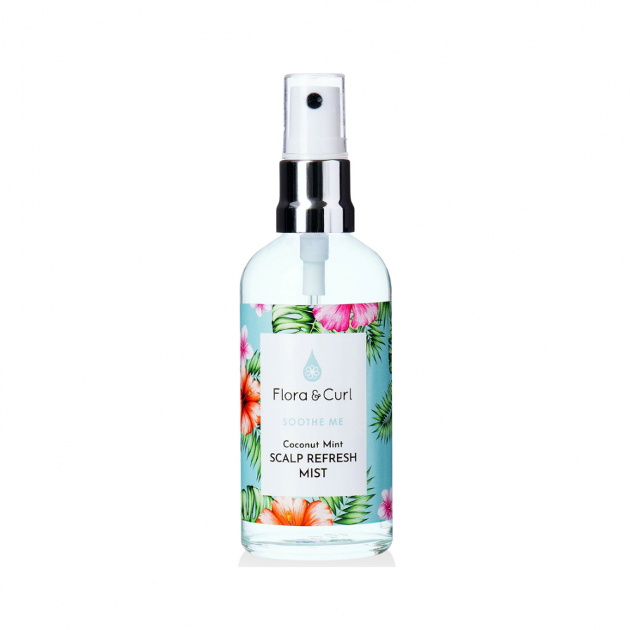 Flora & Curl – Coconut Mint Spray a fejbőr revitalizálására 100 ml