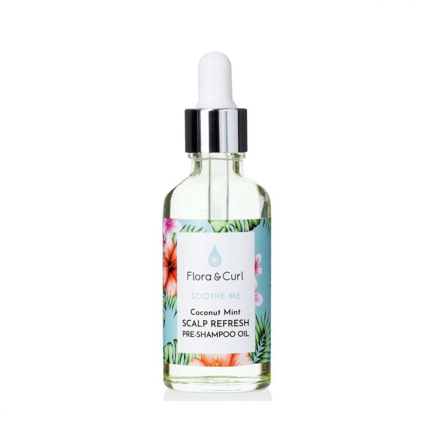 Flora & Curl – Coconut Mint Pre-Shampoo fejbőr revitalizáló olaj 50 ml