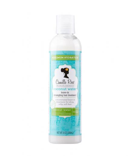 Camille Rose – Coconut Water öblítés nélküli kezelés a haj kifésülésére 240 ml